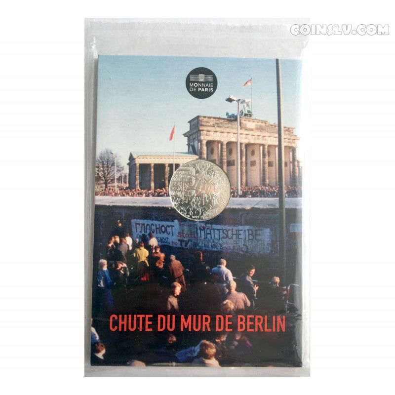 10 euro silver coin france 2019 the fall of berlin wall. Black Bedroom Furniture Sets. Home Design Ideas