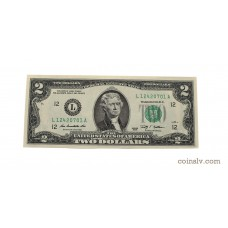 2 dollar banknote USA 2009