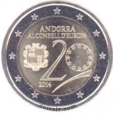 "2 Euro Andorra 2014 ""20th anniversary since Andorra joined the Council of Europe"""