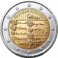 "2 euro Austria 2005 ""50th anniversary of the Austrian State Treaty"""