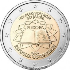 "2 euro Austria 2007 ""50th anniversary of the signing of the Treaty of Rome"""