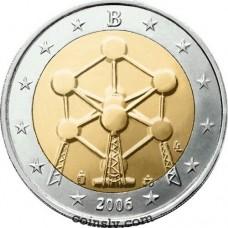 """2 euro Belgium 2006 """"Atomium"""""""