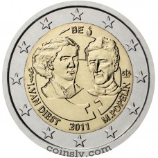 "2 euro Belgium 2011 ""100th anniversary of International Women's Day"""