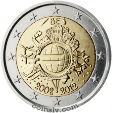 "2 euro Belgium 2012 ""10 years of the Euro"""