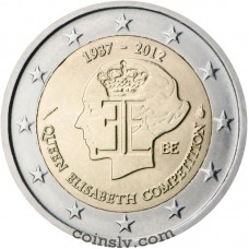 "2 euro Belgium 2012 ""Queen Elisabeth Competition"""