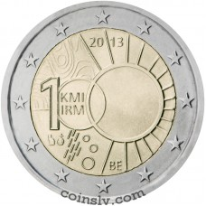 "2 euro Belgium 2013 ""100th anniversary of the Royal Meteorological Institute"""