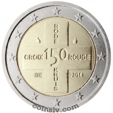 "2 Euro Belgium 2014 ""150 years of the Belgian Red Cross"""