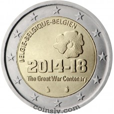 "2 Euro Belgium 2014 ""The Great War Centenary"""