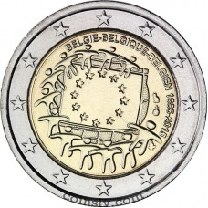 "2 Euro Belgium 2015 ""The 30th anniversary of the EU flag"""