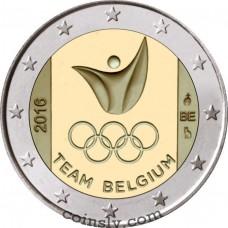 "2 euro Belgium 2016 ""Olympic Games"""