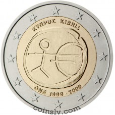 "2 euro Cyprus 2009 ""10 years of Economic and monetary union"""