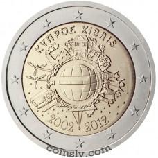 "2 euro Cyprus 2012 ""10 years of the Euro"""