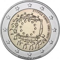 "2 Euro Cyprus 2015 ""The 30th anniversary of the EU flag"""
