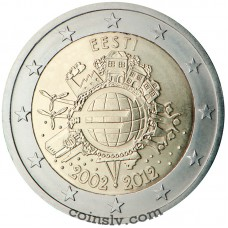"2 euro Estonia 2012 ""10 years of the Euro"""