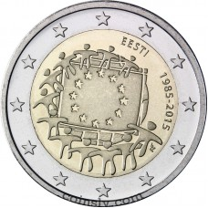 "2 euro Estonia 2015 ""The 30th anniversary of the EU flag"""