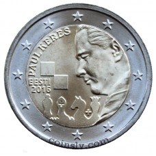 "2 Euro Estonia 2016 ""The 100th anniversary of the birth of the famous Estonian chess grandmaster Paul Keres"""