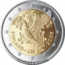 """2 euro Finland 2005 """"60th anniversary of the United Nations"""""""