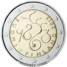 "2 euro Finland 2013 ""The 150th anniversary of the Parliament of 1863"""