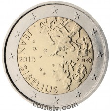 "2 Euro Finland 2015 ""The 150th anniversary of the birth of composer Jean Sibelius"""