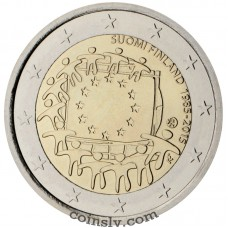 "2 Euro Finland 2015 ""The 30th anniversary of the EU flag"""