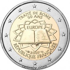 "2 euro France 2007 ""50th anniversary of the signing of the Treaty of Rome"""