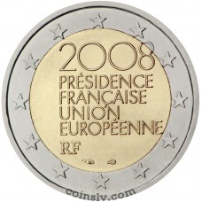 "2 euro France 2008 ""Presidency of the Council of the European Union in the second half"""