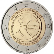"2 euro France 2009 ""10 years of Economic and monetary union"""