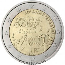 "2 euro France 2011 ""30th anniversary of the Day of Music"""