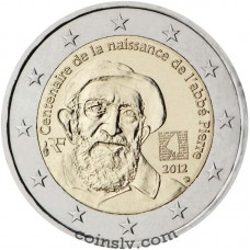 "2 euro France 2012 ""100th anniversary of the birth of the Abbé Pierre"""