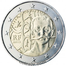 "2 euro France 2013 ""150th anniversary of the birth of Pierre de Coubertin"""