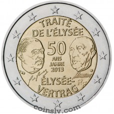 "2 euro France 2013 ""50th anniversary of the signing of the Élysée"""