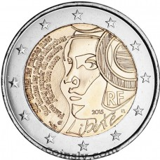 "2 Euro France 2015 ""225th anniversary of the Fête de la Fédération (Festival of the Federation)"""