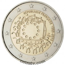 "2 euro France 2015 ""The 30th anniversary of the EU flag"""
