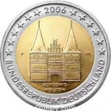 """2 euro Germany 2006 """"Schleswig - Holstein """"Holstentor"""""""" (F)"""
