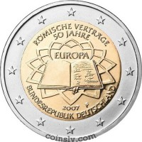 "2 euro Germany 2007 ""50th anniversary of the signing of the Treaty of Rome"" (A)"