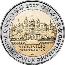 "2 euro Germany 2007 ""Mecklenburg-Western Pomerania ""Schwerin Castle"""" (F)"