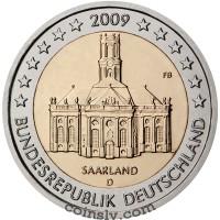 "2 euro Germany 2009 ""Saarland ""Ludwigskirche"" (A)"
