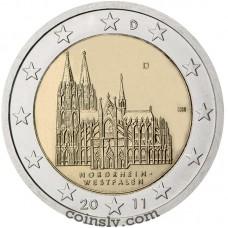 "2 euro Germany 2011 ""Northrhine-Westphalia ""Köln cathedral"" (J)"