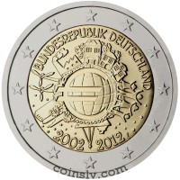 "2 euro Germany  2012 ""10 years of the Euro"" (G)"