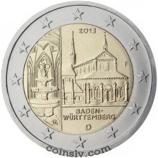 "2 Euro Germany 2013 ""Baden-Württemberg ""Maulbronn Monastery"""" (J)"