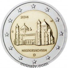 "2 Euro Germany 2014 ""Lower Saxony ""St. Michael's Church at Hildesheim"""" (J)"