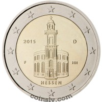 "2 Euro Germany 2015 ""Hessen - St. Paul's Church in Frankfurt am Main"" (J)"