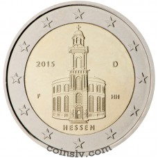 "2 Euro Germany 2015 ""Hessen - St. Paul's Church in Frankfurt am Main"" (A)"