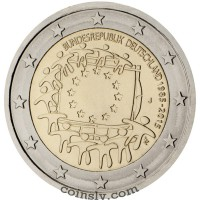 2 euro Germany 2015 - The 30th anniversary of the EU flag (D)
