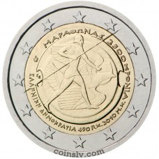 "2 euro Greece 2010 ""2.500th anniversary of the Battle of Marathon"""