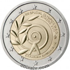 "2 euro Greece 2011 ""XIII Special Olympics World Games — Athens 2011"""