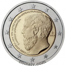 "2 Euro Greece 2013 ""2 400th Anniversary of the founding of Plato's Academy"""