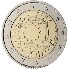 "2 Euro Ireland 2015 ""The 30th anniversary of the EU flag"""