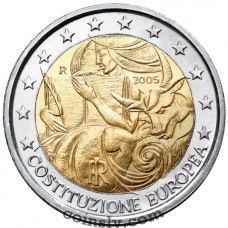 "2 euro Italy 2005 ""1st anniversary of the signing of the European Constitution"""