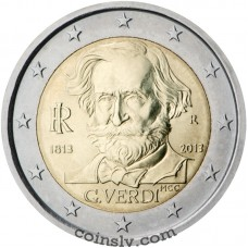 "2 Euro Italy 2013 ""200th anniversary of the birth of Giuseppe Verdi"""
